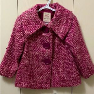 Old Navy Pink and Burgundy Pea Coat